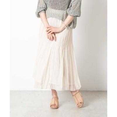 スカート WEGO/ラメシフォンプリーツスカート