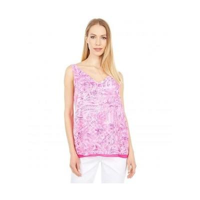 Lilly Pulitzer リリーピューリッツァー レディース 女性用 ファッション ブラウス Reversible Florin Sleeveless V-Neck - Pink Blossom Palm Beach Paradise