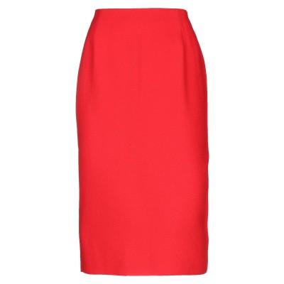 レ コパン LES COPAINS 7分丈スカート レッド 46 レーヨン 100% / コットン / ポリウレタン 7分丈スカート