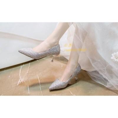 人気 披露宴 パンプス 結婚式 ドレスアップ 痛くない スパンコール レディース 歩きやすい 美脚 ポインテッドトゥ キラキラ ジュース 二次会 靴 オフィス 通勤