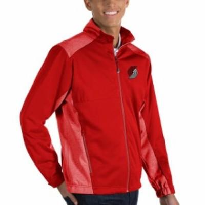 Antigua アンティグア スポーツ用品  Antigua Portland Trail Blazers Red Revolve Full-Zip Jacket