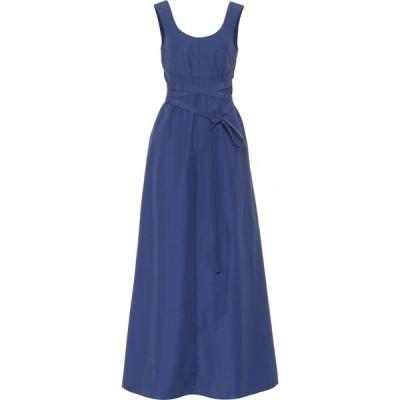プラン C Plan C レディース ワンピース ミドル丈 ワンピース・ドレス Cotton-blend midi dress Bluette