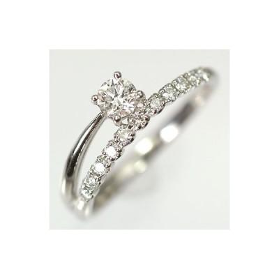 【婚約指輪特集】プラチナ・ダイヤモンド0.2ct(H・SI・GOOD・鑑定書付) エンゲージリング(婚約指輪)