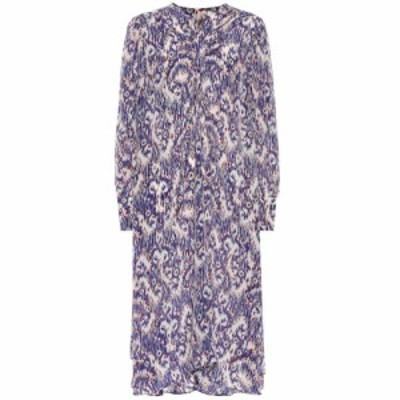 イザベル マラン Isabel Marant. Etoile レディース ワンピース ワンピース・ドレス Yana printed silk dress Blue