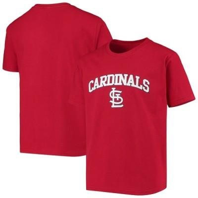 セントルイス・カージナルス Stitches Youth 少年用 Heat Transfer T-シャツ - Red
