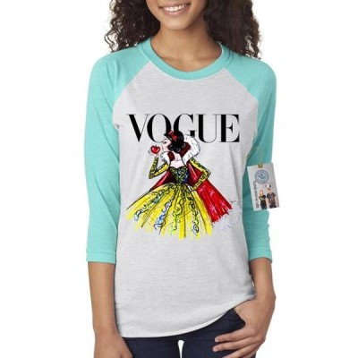 レディース 衣類 トップス Vogue Princess Snow White Womens 3/4 Raglan Sleeve Tシャツ