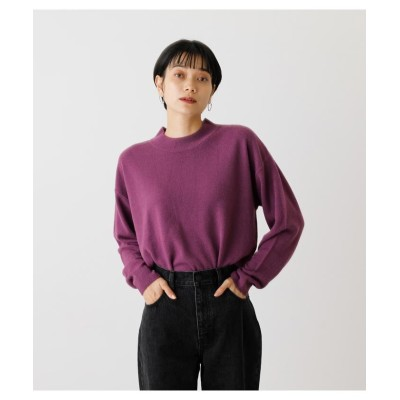 (AZUL by moussy/アズールバイマウジー)NUDIE H/N KNIT TOPS/レディース PUR