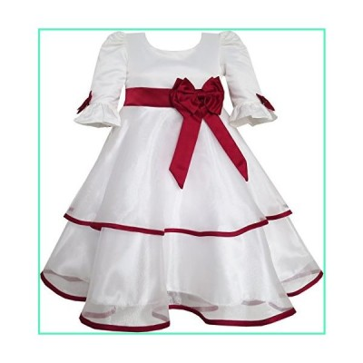 Annabelle Dress for Girls Clothing Bow Tie Lace Formal Party Size 12 White並行輸入品