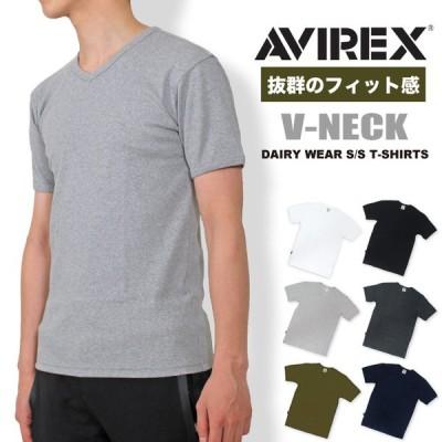 AVIREX アビレックス デイリー Vネック半袖Tシャツ タイトフィット インナー カットソー 無地 アヴィレックス メンズ  6143501 送料無料 ポイント10倍