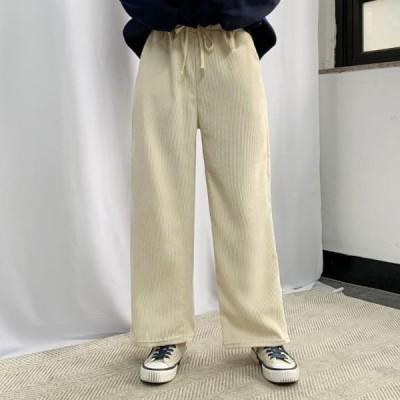 BULLANG GIRL レディース パンツ Comfortable Corduroy Banding Pants