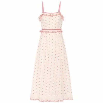 レッド ヴァレンティノ REDValentino レディース ワンピース ワンピース・ドレス polka-dotted cotton dress Ivory Red