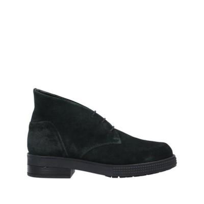 JANET & JANET ショートブーツ  レディースファッション  レディースシューズ  ブーツ  その他ブーツ ダークグリーン