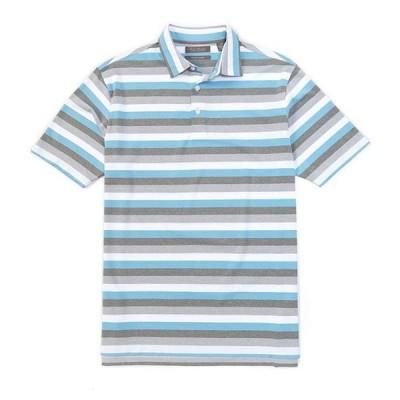 ダニエル クレミュ メンズ シャツ トップス Performance Stripe Short-Sleeve Polo Shirt