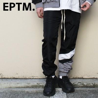 EPTM エピトミ トラックパンツ ジョガーパンツ バイアス切り替え 裾ジップアップ EP8324 アメリカ 人気 ブランド 安い ストリート