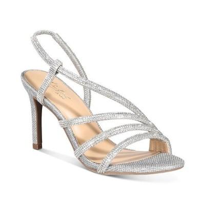 タリア ソディ サンダル シューズ レディース Darbie Asymmetrical Dress Sandals, Created for Macy's Silver Bling