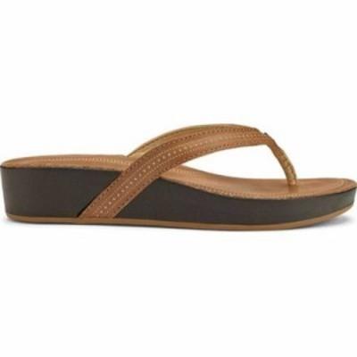 オルカイ ビーチサンダル Ola Flip Flop Tan Leather