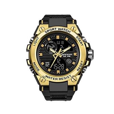 RORIOS watch 腕時計 メンズ ビジネス 防水 デジタル表示 カレンダー 夜光 樹脂ストラップ 多機能 耐衝撃性 日本製 クオーツ