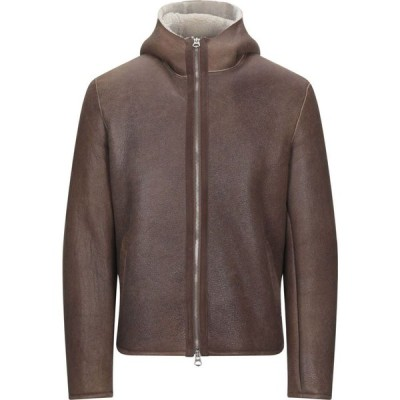 スチュアート STEWART メンズ レザージャケット アウター leather jacket Brown