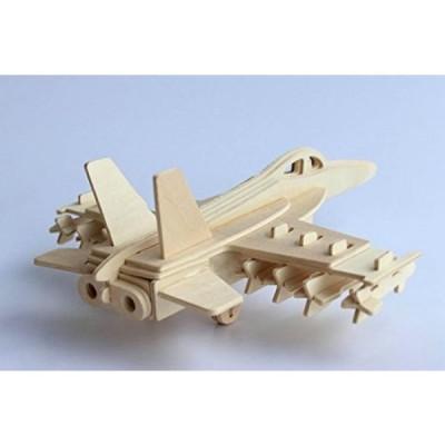 ジグソーパズル 子ども遊具 100ピース以下 Kaden G-P 3D Jigsaw Woodcraft DIY Assembly Construction Model Plane aircraft airplane Puzzle Kit Wooden