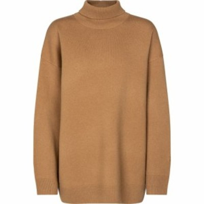 バーバリー Burberry レディース ニット・セーター トップス Cashmere-blend turtleneck sweater Camel