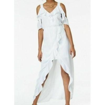 CLOUD クラウド ファッション ドレス XOXO NEW Cloud White Womens Size XXL Cold Shoulder Ruffled Maxi Dress