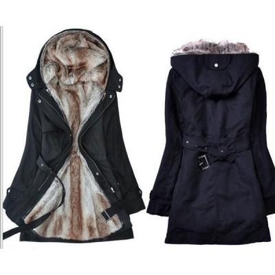 【セール】レディース ボアジャケット アウター SI ロング丈コート 裏起毛 裏ボア 無地 冬物 長袖  きれいめ 暖かく 防寒