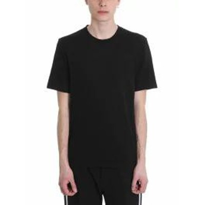 Helmut Lang メンズトップス Helmut Lang Black Cotton T-shirt Black