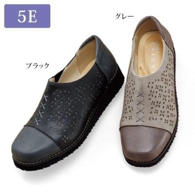 ウォーキング シューズ レディース / 幅広軽量パンチングウォーキングシューズ / 40代 50代 60代 70代 ミセスファッション シニアファッション 靴