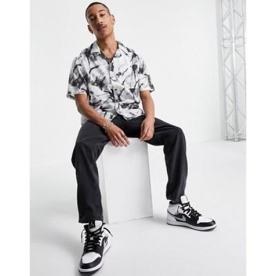カルバンクライン Calvin Klein Jeans メンズ 半袖シャツ トップス All Over Marble Print Short Sleeve Shirt In Grey グレー