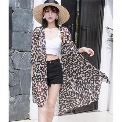 レディースファッション  ロング丈 UVカット  薄手 シフォン   アウター ロング 紫外線対策 春 夏 冷房対策