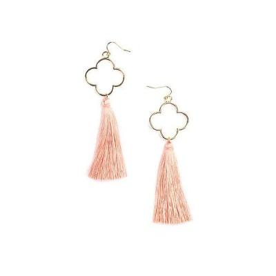 レディース アクセサリー  Eye Candy LA Andrea Coral Fringe Drop Earrings