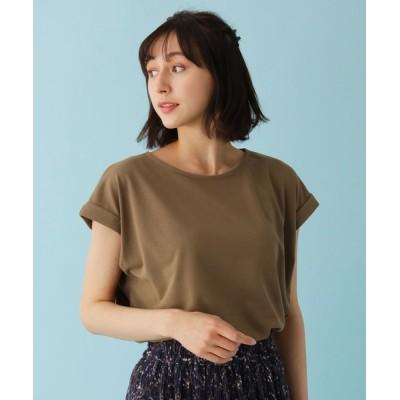 SHOO・LA・RUE / 【M-L/洗える/吸水速乾/UVケア/アンチピリング】DRYMIX 袖タックTシャツ WOMEN トップス > Tシャツ/カットソー