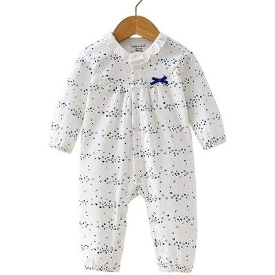 Baby nest ベビー服 女の子 長袖 カバーオール ロンパース 綿100% 前開き 長袖ボディオール 着替え便利 柔らかい 新生児服 赤ちゃん