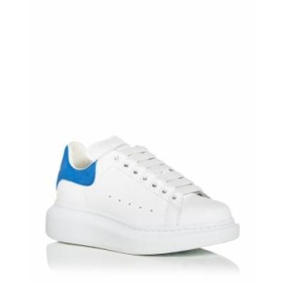 アレキサンダー・マックイーン レディース スニーカー シューズ Women's Oversized Suede Heel Detail Sneakers White/Light Blue