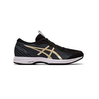 ASICS Men's Lyteracer 2 Running Shoes, 9.5M, Black/Pure Gold好評販売中