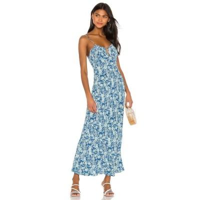 フリーピープル Free People レディース ワンピース ワンピース・ドレス Bon Voyage Midi Dress Blue Combo