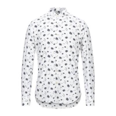 948 ARCHIVIO 柄入りシャツ  メンズファッション  トップス  シャツ、カジュアルシャツ  長袖 ホワイト