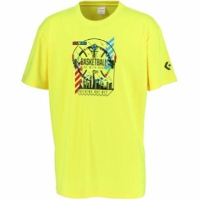 0S プリントTシャツ converse(コンバース) バスケットTシャツ M (cb201365-5200)