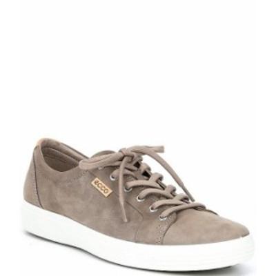エコー メンズ ドレスシューズ シューズ Men's Soft VII Leather Sneakers Warm Grey Powder