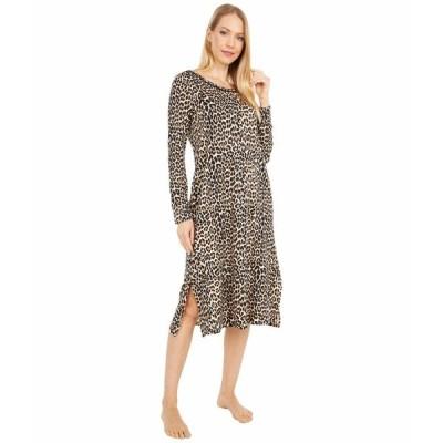 ケイト スペード ナイトウェア アンダーウェア レディース Brushed Sweater Knit Gown Small Classic Leopard