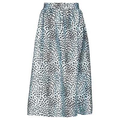 マヌーシュ MANOUSH 7分丈スカート スカイブルー 38 ポリエステル 100% 7分丈スカート