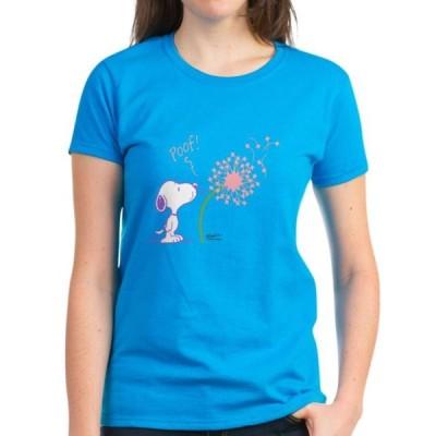 レディース 衣類 トップス CafePress - Snoopy Dandelion Women's Light T Shirt - Women's Dark T-Shirt Tシャツ