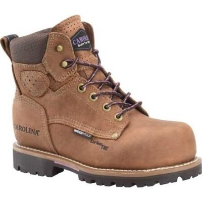 カロリナ Carolina レディース ブーツ ワークブーツ シューズ・靴 6' Waterproof Carbon Comp Toe Work Boot Dark Brown Arcton Chestnut Leather