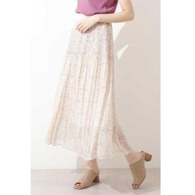 エヌ ナチュラルビューティーベーシック(N.Natural Beauty Basic*)/シフォンヨウリュウフラワープリーツスカート