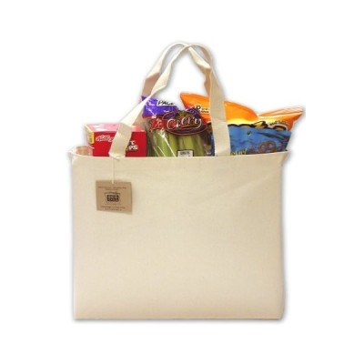 ECOBAGSキャンバストート、Everyday Shopper ブラウン CAN-501