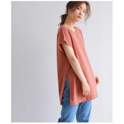[洗える・26(S)/52(LL)WEB限定サイズ]スリットチュニックTシャツ