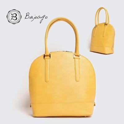 BajoLugo バジョルゴ ブガッティ型 トート 角シボ イエロー バッグ 鞄 レザー 牛革