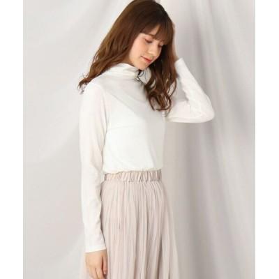 Couture Brooch/クチュールブローチ シャーリングタートルプルオーバー オフホワイト(003) 40(L)