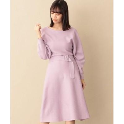 CAST:/キャスト コロン ウエストマークニットドレス ピンク S