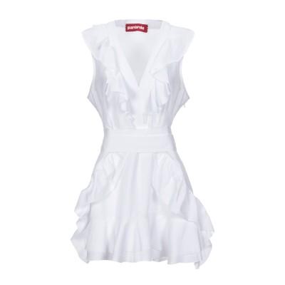 GUARDAROBA by ANIYE BY ミニワンピース&ドレス ホワイト L コットン 100% / ポリエステル ミニワンピース&ドレス